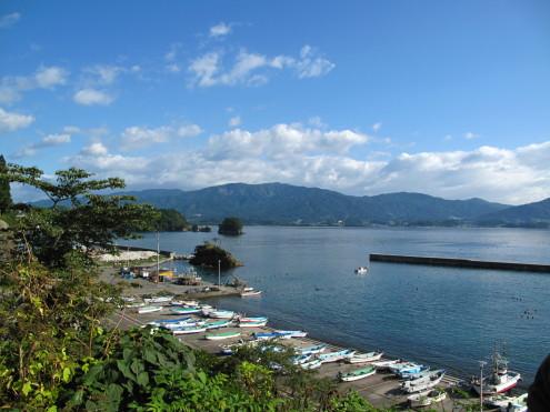 2009年9月訪問時の陸前高田・広田湾。なんとのどかで美しい!