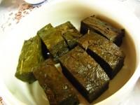 お茶の漬物(民宿焼畑)